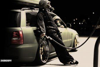 Wallpaper Night Cars Funny Gas Masks Gas Nike Tuning Gas