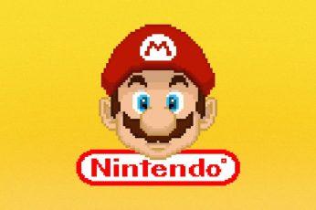 Wallpaper Nintendo Super Mario Logo, Mario Bros., Mario