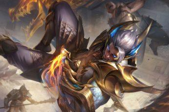 Wallpaper Obsidian, Dragon, Sett League Of Legends