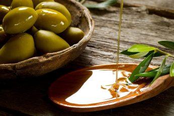Wallpaper Olive Oils, Olives, Honey, Food, Freshness, Wood