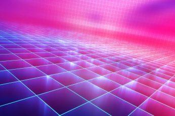 Wallpaper Pattern, Purple, Pink, Grid, Magenta, Synthwave