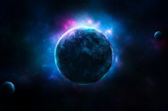 Wallpaper Planets, 4k, Dark Space