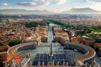 Wallpaper Plaza, Square, Basilica Di San Pietro, Vatican