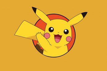 Wallpaper Pokemon Pikachu, Pokémon, Anime, Yellow