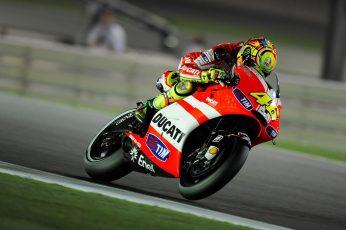 Wallpaper Red And White Ducati Sport Bike, Valentino Rossi