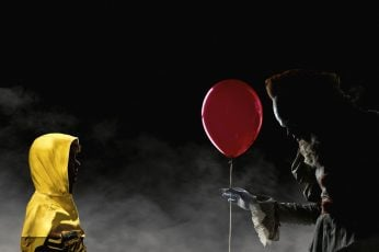 Wallpaper Red Balloon, Movie, It 2017, Clown, Horror