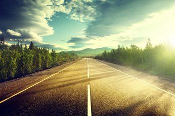 Wallpaper Road, Highway, Asphalt, Sunshine, Road Trip