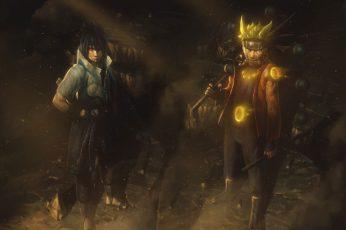 Wallpaper Sasuke And Naruto Digital, Uzumaki