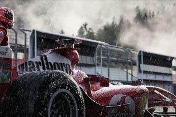Wallpaper Sport, Machine, Rain, Formula 1, The Car, Schuma