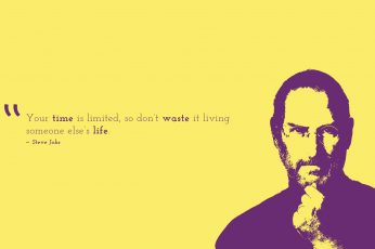 Wallpaper Steve Jobs Illustration With Quote Letter, Time