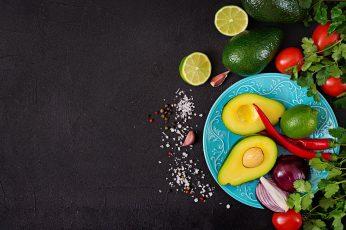 Wallpaper Still Life, Vegetables, Food, Avocado, Lime