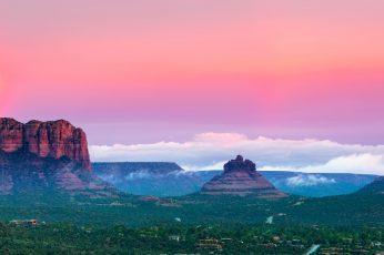 Wallpaper Sunset, Mountains, Road Trip, 4k, 8k