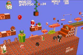 Wallpaper Super Mario Game Application, Nintendo, Video Game