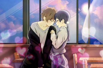 Wallpaper Tamako X Mochizou, Romance, Tamako Market, Cute