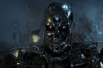 Wallpaper Terminator Robot, T 800, Science Fiction, Movies