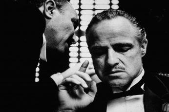 Wallpaper The Godfather, Monochrome, Marlon Brando, Vito
