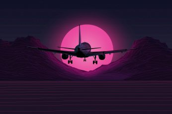 Wallpaper The Sun, Music, The Plane, Background, Neon, 80's