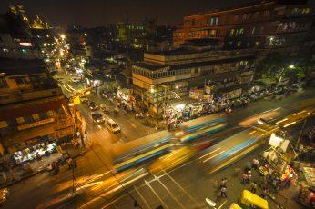 Wallpaper Traffic, City, Road, Travel, Dusk, Kolkata