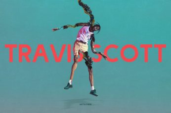 Wallpaper Travis Scott, Kanye West, Text, Full Length