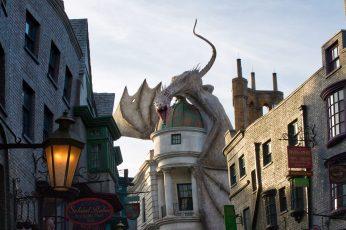 Wallpaper Universal Studios, Harry Potter, Dragon, Hogwart