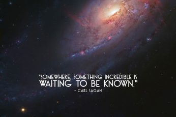 Wallpaper Waiting To Be Known By Carl Sagan Quote