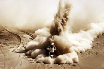 Wallpaper White Dirbike, Sand, Sport, Motorcycle, Racer