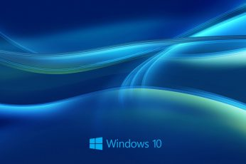 Wallpaper Windows 10 System, Abstract Blue Background