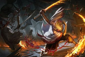 Wallpaper Anime, Demon Slayer Kimetsu No Yaiba, Blood