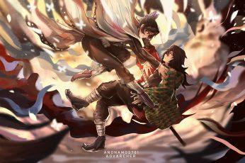 Wallpaper Anime, Demon Slayer Kimetsu No Yaiba, Boy, Girl
