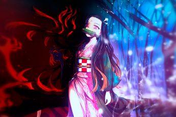 Wallpaper Anime, Demon Slayer Kimetsu No Yaiba, Nezuko
