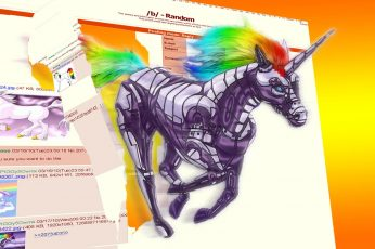 Wallpaper Attack, Robot, Unicorn