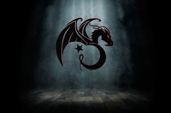 Wallpaper Black Dragon, Kali, Linux, Ejdertim