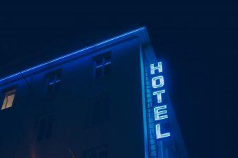 Wallpaper Blue, Hotel, Neon, Window, Night, Cyan, Neon