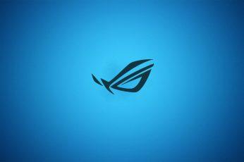 Wallpaper Blue Minimalistic Asus Gradient Logos Republic