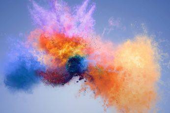 Wallpaper Colourful, Art, Explosion, Color, Smoke