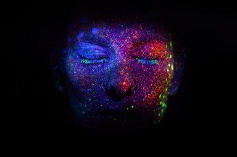 Wallpaper Darkness, Light, Close Up, Night, Illuminating