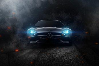 Gray Mercedes Benz Car Wallpaper, Mercedes Amg