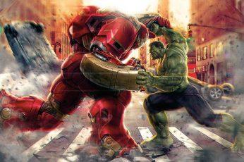 Wallpaper Iron Man And The Increadible Hulk, The Avengers