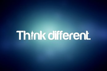 Wallpaper Just Think Different By Apple, Background, Blue