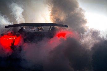 Wallpaper Lamborghini Sesto Elemento Burnout Smoke Hd, Black