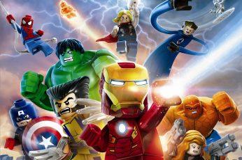 Wallpaper Lego Marvel Avengers, Marvel Super Hero