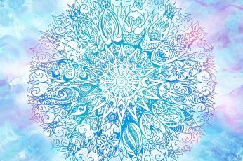 Wallpaper Mandala Anelie Blue And Purple, Mandala, Artistic