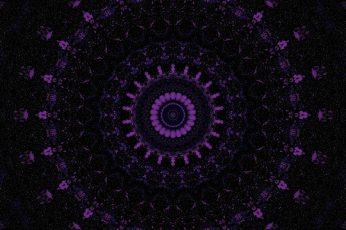 Wallpaper Mandala Pattern Kaleidoscope Ornament Purple