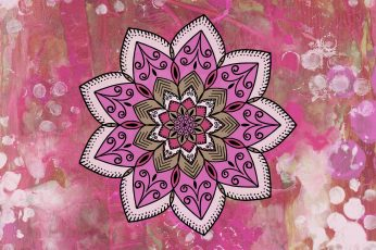 Wallpaper Mandala, Patterns, Stains, Texture, Pink Color