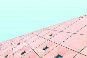 Wallpaper Minimal Structure Sky Building Architecture