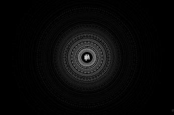 Wallpaper Minimalism Circle Black, Mandala, Geometric