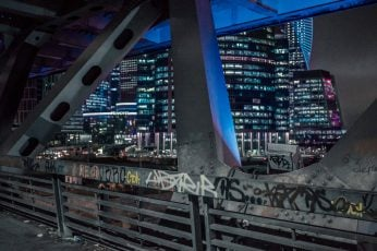 Wallpaper Moscow, Russia, Graffiti, Dark, Night, Neon