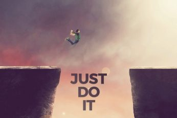 Wallpaper Just Do It, Motivational, Nike, Jumping