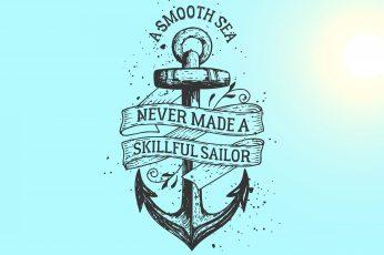 Wallpaper Motive Quote, A Smooth Sea Logo, Artistic