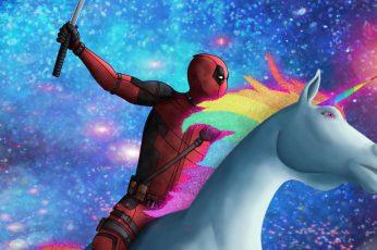 Wallpaper Movie, Deadpool 2, Unicorn, Adult